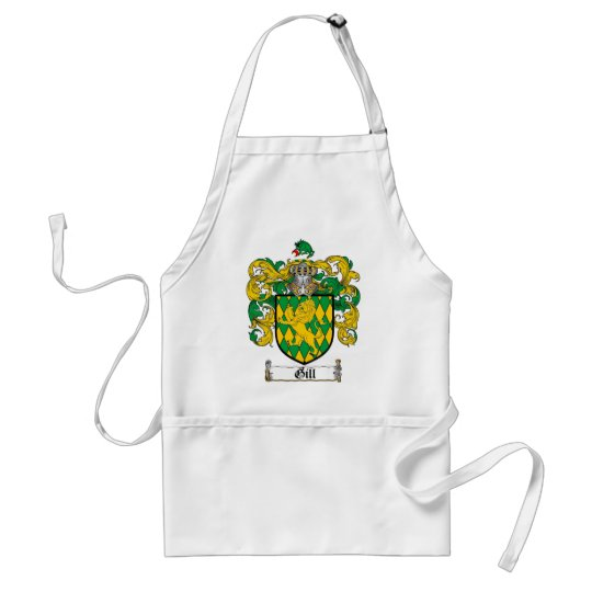 GILL FAMILY CREST -  GILL COAT OF ARMS ADULT APRON