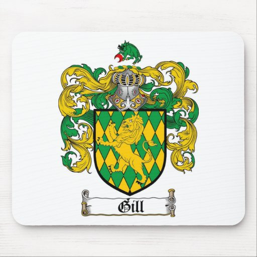 GILL FAMILY CREST -  GILL COAT OF ARMS MOUSE PAD