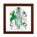 Gill Family Crest Keepsake Boxes
