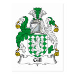 Gill Family Crest Postcards