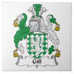Gill Family Crest Tile