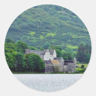 Gill Lough Lakes Ireland Parkes Castle Round Sticker