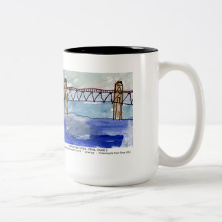 Gill-Montague Bridge painting mug