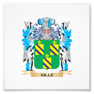 Gille Coat of Arms - Family Crest Photograph