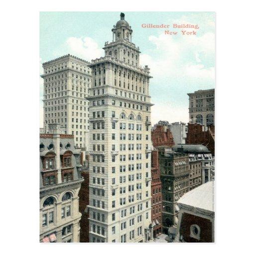 Gillender Skyscraper, New York City c1905 Vintage Postcard