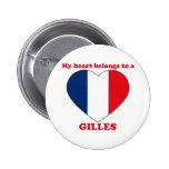 Gilles 2 Inch Round Button