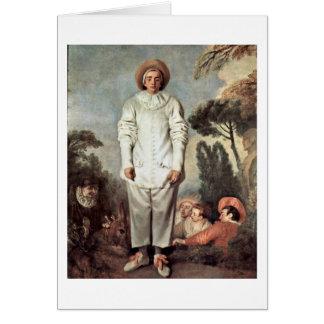 Gilles By Antoine Watteau Card