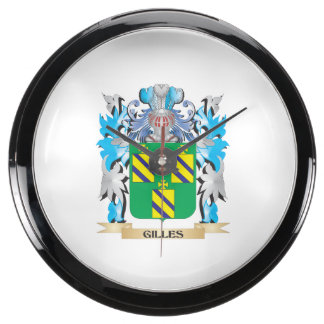 Gilles Coat of Arms - Family Crest Aquavista Clock