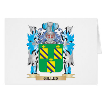 Gilles Coat of Arms - Family Crest Stationery Note Card