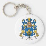 Gilles Family Crest Basic Round Button Keychain