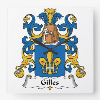 Gilles Family Crest Wall Clock