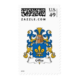 Gilles Family Crest Postage Stamps