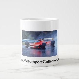 Gilles Villeneuve in the Rain Large Coffee Mug