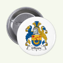 Gillespie Family Crest Button