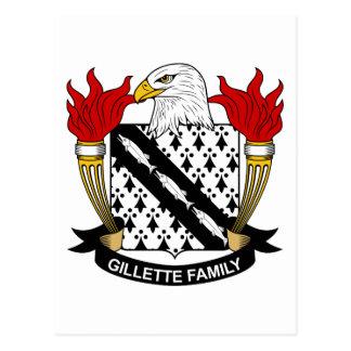 Gillette Family Crest Postcard