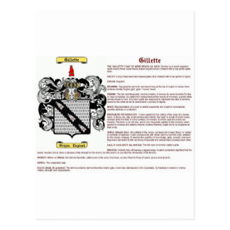 Gillette (meaning) postcard