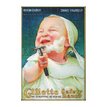 Gillette Safety Razor - Begin Early Shave Canvas Print