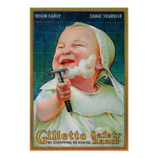 Gillette Safety Razor - Begin Early Shave Poster