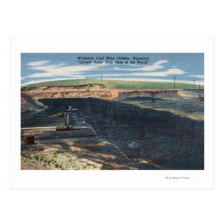 Gillette, WY - opinión de mina de carbón de Postal