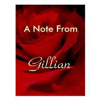 Gillian Post Card