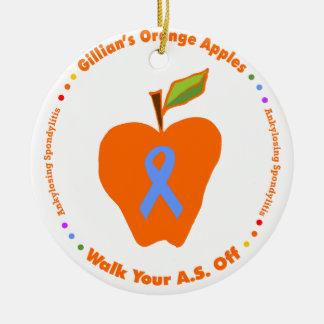 Gillian's Orange Apples Ceramic Ornament