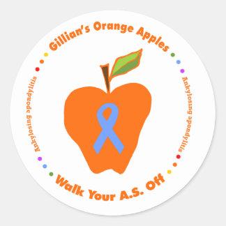 Gillian's Orange Apples Classic Round Sticker