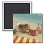 Gilligan Goes to The Beach 2 Inch Square Magnet