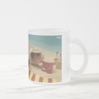 Gilligan Goes to The Beach Frosted Glass Coffee Mug