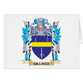 Gillings Coat of Arms - Family Crest Stationery Note Card
