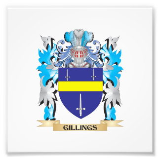 Gillings Coat of Arms - Family Crest Photograph