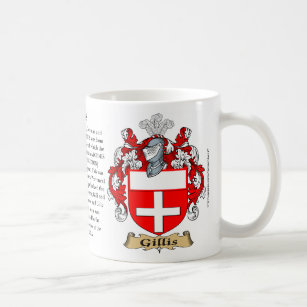 Gillis, the Origin, the Meaning and the Crest Coffee Mug