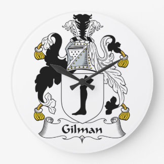 Gilman Family Crest Large Clock