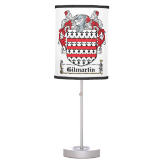 Gilmartin Family Crest Lamps