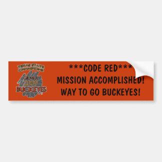 Gilmer Buckeyes Texas Football Champions 2009 Bumper Sticker