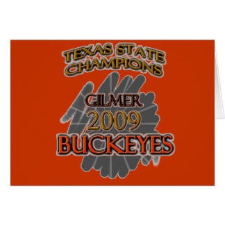 Gilmer Buckeyes Texas Football Champions 2009 Card