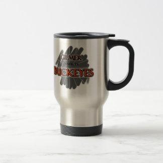 Gilmer High School Buckeyes - Gilmer, TX 15 Oz Stainless Steel Travel Mug