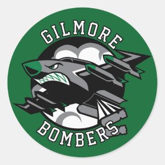 Gilmore Bombers Round Sticker