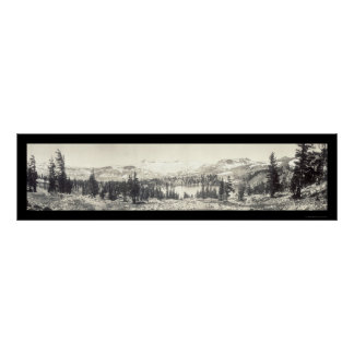 Gilmore Lake Tahoe Photo 1910 Poster
