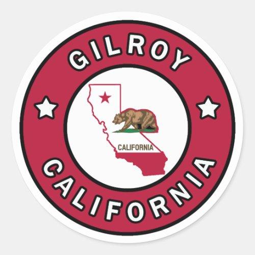 Gilroy California Classic Round Sticker