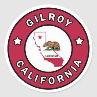 Gilroy California Classic Round Sticker