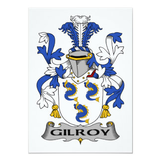 Gilroy Family Crest Personalized Announcements