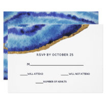 Gilt Agate Wedding Invitations rsvp