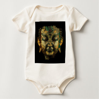 Gilt Antique Buddha Face Gifts by Sharles Baby Bodysuit