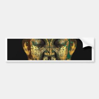 Gilt Antique Buddha Face Gifts by Sharles Bumper Sticker