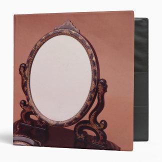 Gilt-painted papier-mache mirror, c.1890 vinyl binder
