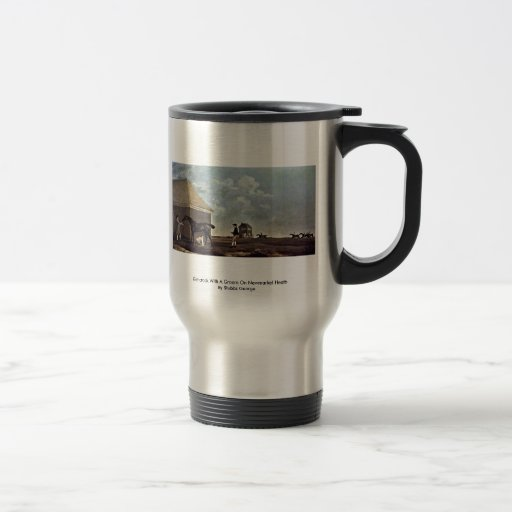 Gimcrack With A Groom On Newmarket Heath 15 Oz Stainless Steel Travel Mug
