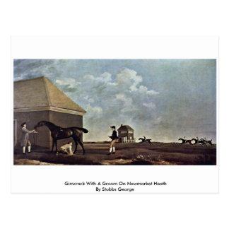 Gimcrack With A Groom On Newmarket Heath Postcard