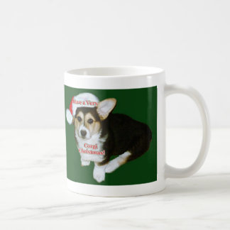 Gimli- Very Corgi Christmas Classic White Coffee Mug