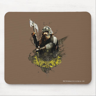 Gimli With Ax Vector Collage Mouse Pads