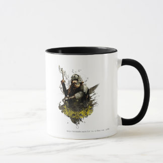Gimli With Ax Vector Collage Mug
